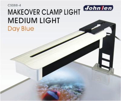 Johnlen Makeover Clamp LED -12000K Day Blue Medium 36cm max. (white)