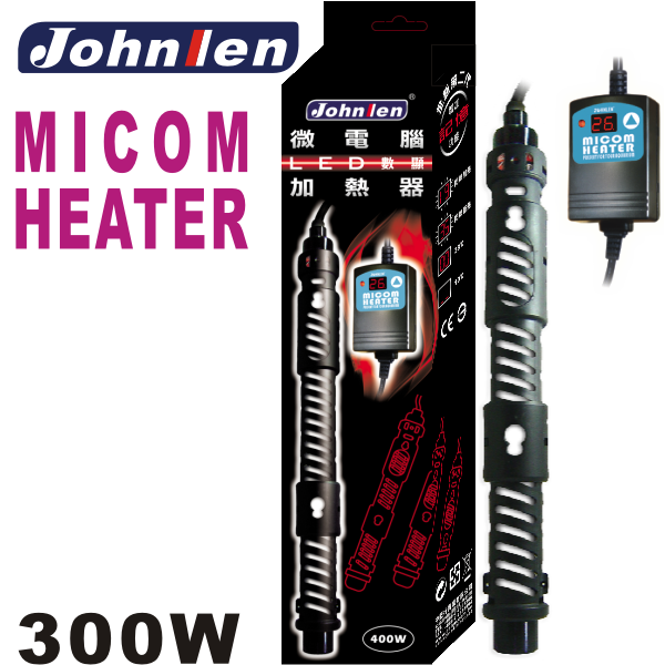 Johnlen Micom External Display LED Heater 300W – up to 300L aquarium