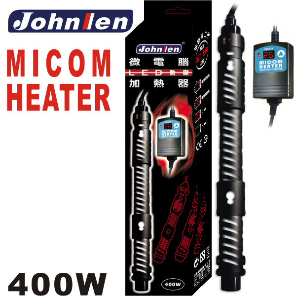 Johnlen Micom External Display LED Heater 400W – up to 400L aquarium